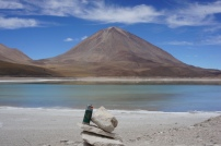 Volcano watching at Green Lagoon, Bolivia