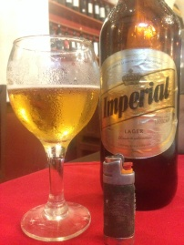 Enjoying Argentinian beer in Salta