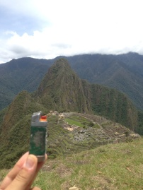 High above Machu Picchu