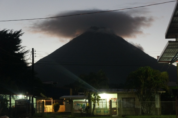 Arenal Volcano - We were lucky the clouds parted for just a moment on our last night to view this beauty