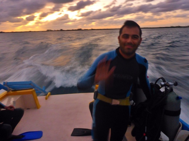 Ben ready for night dive