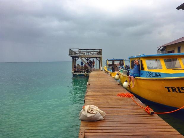 Rainy day in Utila