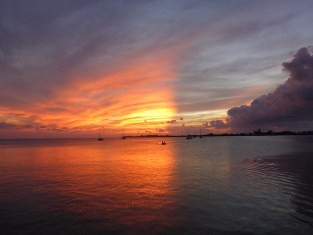 Utila delivers the best sunsets every night