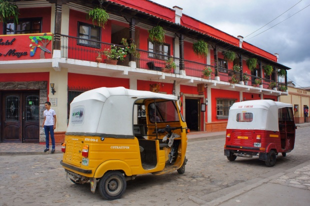 Tuk Tuks in the streets of Copan