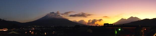 Agua and Fuego Volcanos