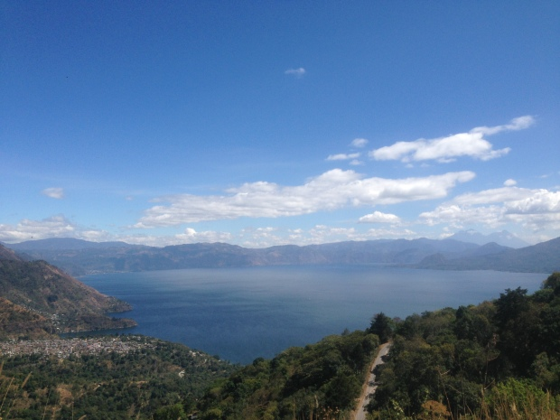Views over Lake Atitlan from the van